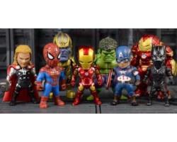 Случайная фигурка Мстители, 10 см (Железный Человек, Тор, Человек-Паук, Халк, Халкбастер, Капитан Америка)