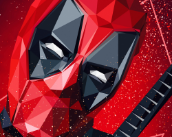 Картина по номерам на холсте Deadpool