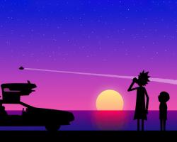 Картина по номерам на холсте Rick and Morty