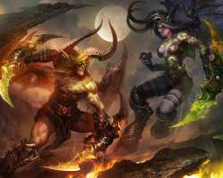 Картина по номерам на холсте Warcraft