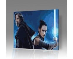 Картина по номерам на холсте Звездные войны: Последние джедаи