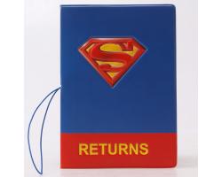 Обложка на паспорт Супермен